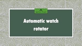 Automatic watch rotator