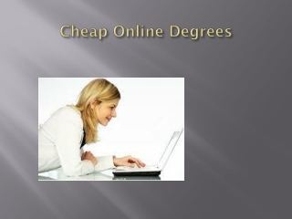 Cheap Online Degrees