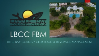 FOOD AND BEVERAGE FACILITIES