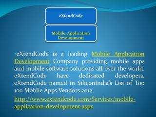 eXtendCode - Mobile Application Development