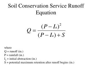 Soil Conservation Service Runoff Equation