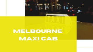 Maxi Taxi Melbourne Airport