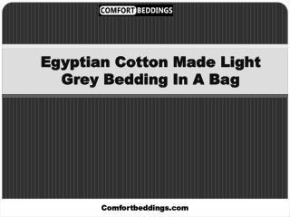Top Class Light Grey Bedding For All Seasons
