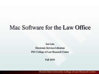 Mac Software for the Law Office
