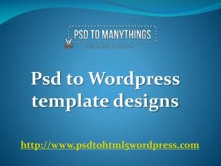 psd to wordpress template designs