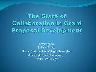 The State of Collaboration in Grant Proposal Development