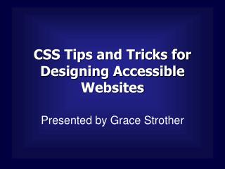 CSS Tips and Tricks for Designing Accessible Websites