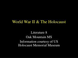 World War II & The Holocaust