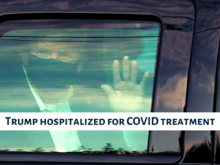 Trump hospitalized for COVID treatment