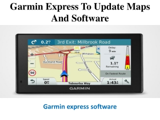Use Garmin Express to update maps and software