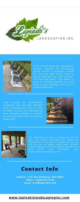 Landscape Maintenance Olney MD