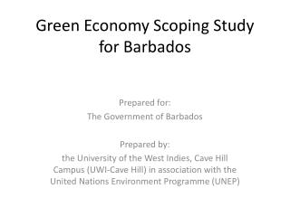 Green Economy Scoping Study for Barbados