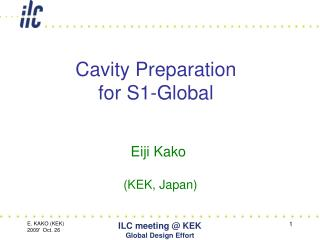 Cavity Preparation for S1-Global