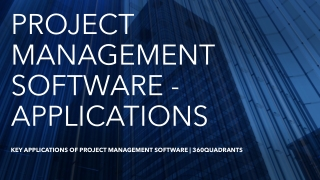 Key Applications of Project Management Software