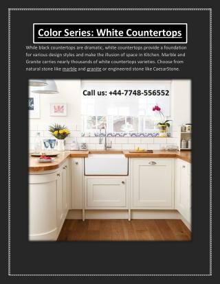 Color Series: White Countertops