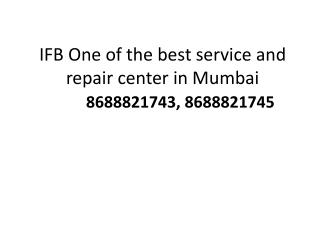 IFB Refrigerator Service Center Vashi