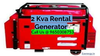 2 kVA Generator For Sale