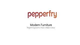 Regent Ergonomic Chair in Black Colour