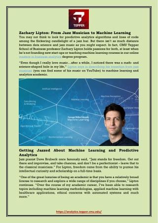 Zachary Lipton: From Jazz Musician to Machine Learning