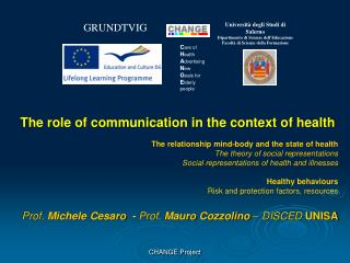 The role of communication in the context of health The relationship mind-body and the state of health     The theory of