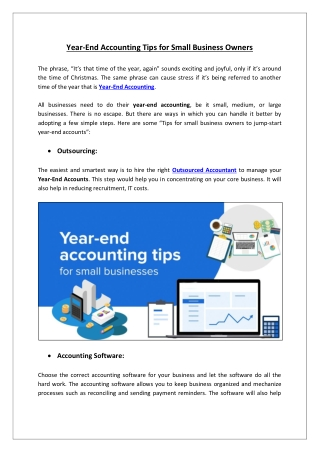 Tips of Year-End Accounting for Small Business Owners