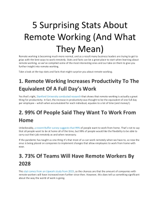5 Surprising Stats About Remote Working (And What They Mean)