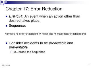 Chapter 17: Error Reduction