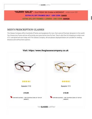 MEN'S PRESCRIPTION GLASSES - THE GLASSES COMPANY