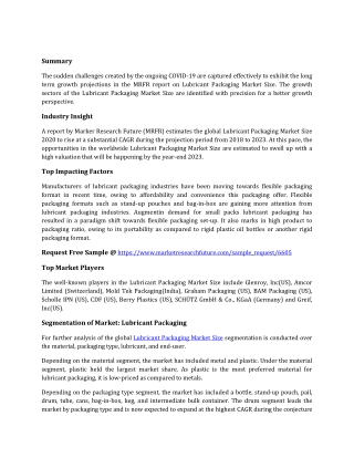 Lubricant Packaging Market
