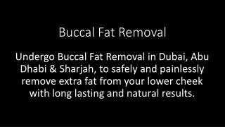 Buccal Fat Removal in Dubai