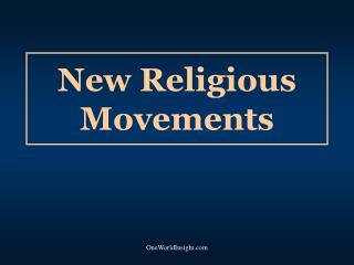 New Religious Movements
