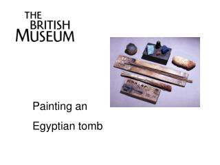 Painting an Egyptian tomb