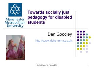 Towards socially just pedagogy for disabled students