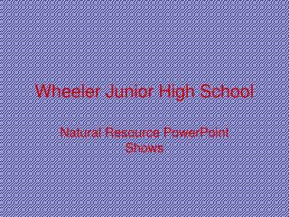 Wheeler Junior High School