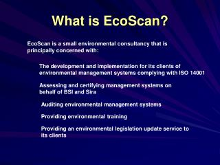 What is EcoScan?