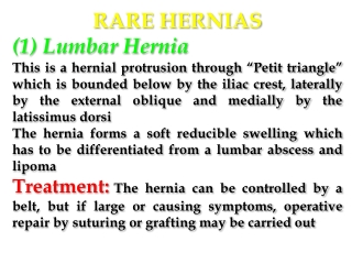 INTERNAL HERNIAS