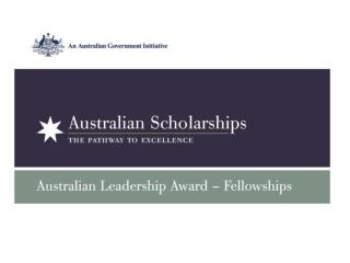Australian Leadership Awards – Fellowships Overview