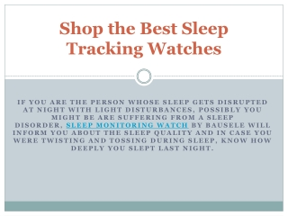 Shop the Best Sleep Tracking Watches
