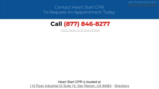 Heart Start CPR Offers Quality Training Services