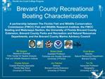 Brevard County Recreational Boating Characterization