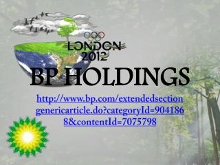 BP HOLDINGS: Droite sur la cible pour Londres 2012