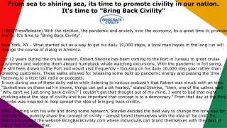 """From sea to shining sea, its time to promote civility in our nation. It's time to """"Bring Back Civility"""""""