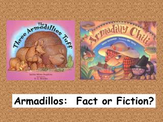 Armadillos:  Fact or Fiction?