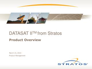 DATASAT II TM from Stratos