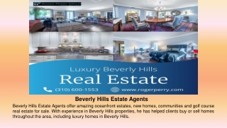 Beverly Hills Estate Agents