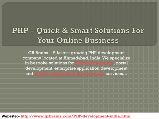 PHP – Quick & Smart Solutions For Your Online Business