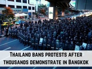 Thailand bans protests after thousands demonstrate in Bangkok