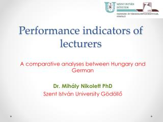 Performance indicators of lecturers