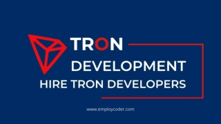 Hire Tron Developers | Tron Development Company | Tron DApps Development