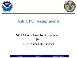 Ask CPC: Assignments